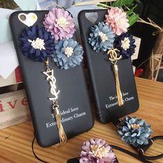 YSL アイフォン7/7plus ジャケット カバー Chanel アイフォン7/7plus 保護カバー 花飾り 歌手愛用
