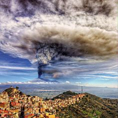 Mt. Etna eruption, Italy