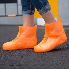 Waterproof Accessories Slip-resistant Rubber Overshoes Boot  Latex Rain Shoes