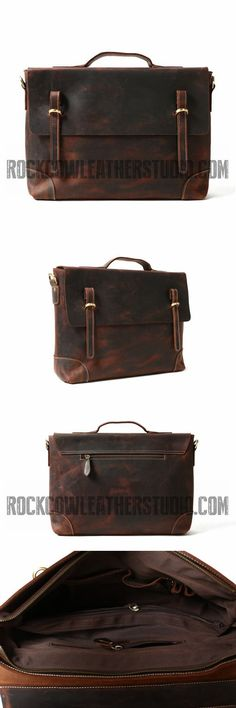 Business Briefcase Mens Shoulder 16 Inch Leather Laptop Messenger Bag Leather Crossbody Work//Day Bag Coffee Vintage Briefcase,Canvas Briefcase Satchel,Leath