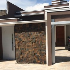 THAIS GREI Future House, My House, Diwali Decorations At Home, Stone Cladding, Facade House, My Dream Home, Exterior Design, House Plans, New Homes