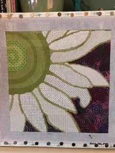 Daisy needlepoint, designer unknown