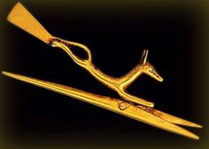 Gold Scissors from ancient Egypt, ca. 1500 BC. It's just incredible the awesome things that the ancient Egyptians invented, or innovated on, so long ago.