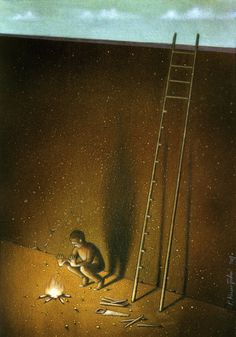 13 dark pieces of satire to make you stop and think. Polish artist, Paul Kuczynski will be as depressing as he needs to be to make sure you look at the world differently.