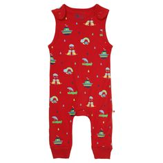 52d1b3a076d Piccalilly Rainbow Ark Dungarees - These soft jersey rainbow ark print  dungarees are designed with active