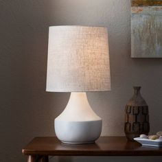 Wren Accent Lamp - Cream (Includes CFL Bulb) - Threshold™. Image 3 of 3.