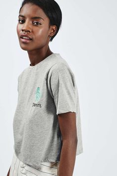 Embroidered 'Dino-Mite' Tee by Tee and Cake