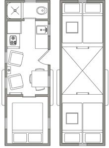 Tiny house  Floor plans and Studio apartments on Pinterest