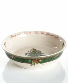 """Spode Dinnerware, Christmas Tree 10"""" Round Annual Serving Bowl - 2011 by Spode. $54.99"""