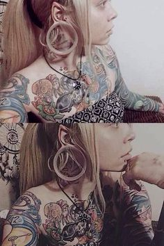 People Who Made Extreme Modifications To Their Own Bodies – Body Modification Body Art Tattoos, Girl Tattoos, Stretched Lobes, Facial Piercings, Peircings, Body Modifications, Piercing Tattoo, Body Mods, Body Image