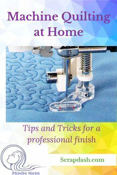The last step to finishing your quilt is actually quilting it. Here are some tips to do it at home. #quilt #quilting #scrapdash Quilting For Beginners, Quilting Tips, Free Motion Quilting, Quilting Projects, Sewing Projects, Scrappy Quilt Patterns, Scrappy Quilts, Wooden Containers, Quilt Storage