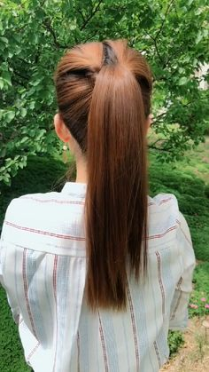Bun Hairstyles For Long Hair, Girl Hairstyles, Braided Hairstyles, Hairdo For Long Hair, Long Hair Video, Front Hair Styles, Medium Hair Styles, Hair Style Vedio, Hair Tutorials For Medium Hair