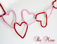 """heart """"valentine"""" garland"""