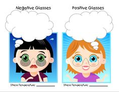 Negative/Positive Glasses Counseling, Therapy, Stress, Positivity, Glasses, Creative, Fictional Characters, Eyewear, Eyeglasses