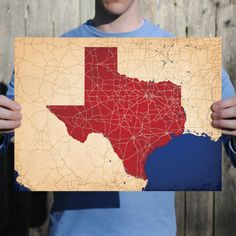 Texas | City Prints Map Art