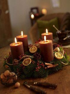 Centrotavola natalizi con frutta secca - Fotogallery Donnaclick