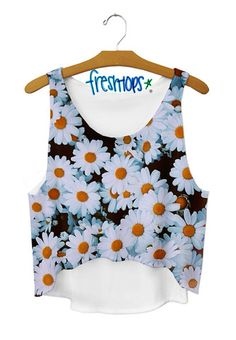 Daisy Crop Top - Fresh-tops.com (@Katie Hrubec Hrubec Queen I would definitely wear this!)