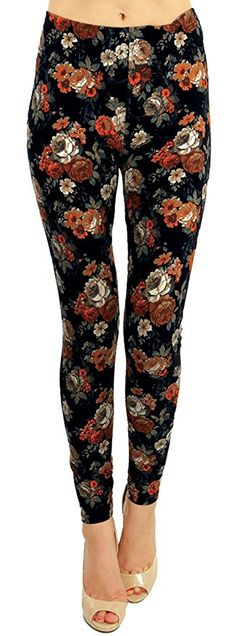 High Quality Printed Leggings (Volcanic Rose) One Size