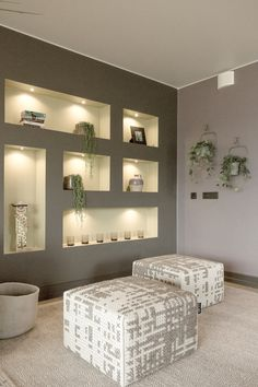 Earthy, natural materials and a soft harmonic color palette gives this cozyapartment a warm and welcoming look. Theinteriors are designed by Milla Alftan, for the Finnish Housing Fair in 2014. Filled with unique design ideas and details this apartment shows an ecological approach for a living environment.  Tailored storage units on the wall and other playful decor elementscreate a personal atmosphere. The bucket pendant over the dining table is one of the catchy ideas.   The painted tree…
