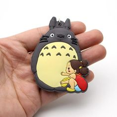 Do you love collecting anime items? Then get this My Neighbor Totoro Rubber Keychain!