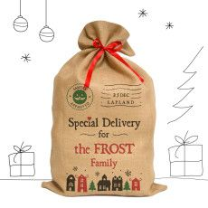 A special delivery for the Frost Family! thanks to Mine4Sure's personalised Santa sack