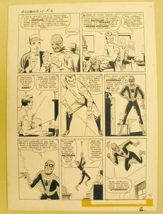 Original Steve Ditko artwork from Amazing Adult Fantasy #15. This was the first appearance of Spider-Man.