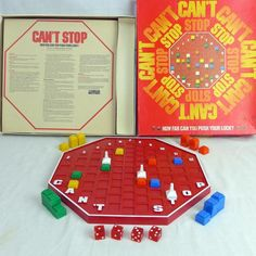 Parker Brothers Can't Stop Push Your Luck Board Game Complete Vintage 1980 #ParkerBrothers