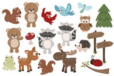 Adorable, Free Woodland Animals Clipart and Digital Papers by Amanda Ilkov | Download at blog.mandyartmarket.com