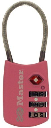 "I am going to need a few of these. Master Lock 4688dpnk Combination Luggage Lock 1-1/2"" - Amazon.com"