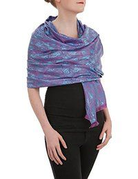 Opulent Luxury Pashmina Scarf Shawl Wrap is woven from the finest 100% Silk Pashmina wool gives you the right amount of coverage during the colder seasons.