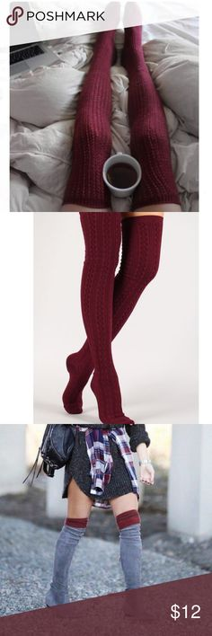 Over The Knee High Knit Boot Socks ❄️Brand New❄️One Size Fits Most❄️Super Long Thigh High Over The Knee Stockings Socks❄️Stretchy❄️Warm and perfect for Winter and Fall❄️Good for Layering!❄️Feel free to ask questions!✅Bundle Discounts!✅www.thefairyden.com Accessories Hosiery & Socks