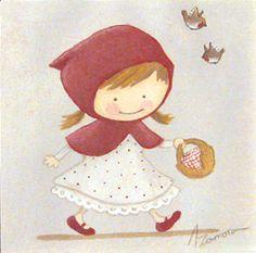 aida Zamora - Art for kids. Custom paint. Cuadro infantil personalizado. Little Red Riding Hood