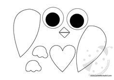 SAGOME GUFO Sagome per creare un simpatico gufo di legno, di feltro, di carta o di altro materiale. Potete stampare le sagome del gufo sia nella versione a