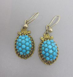 Gorgeous Victorian 18CT Gold & Turquoise by WestandSonJewellery
