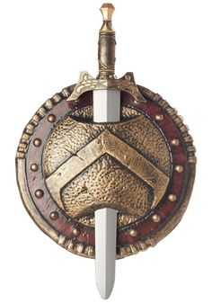 If you run around yelling, ''This is Sparta!'' all day long, then you might need this Spartan shield and sword set to fight off all the Persian enemies you're bound to make.