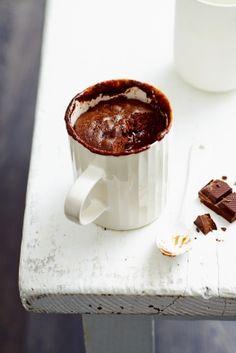 ... mug cake au chocolat fondant ...