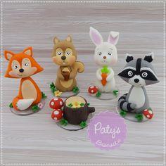 Kit Miniaturas Bichinhos da Floresta (Woodland) | Paty s Biscuit | Elo7