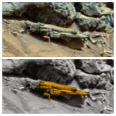 UFO SIGHTINGS DAILY: Ancient Aliens On Mars, Carved Humanoid And Bear Found, Nov 2014, UFO Sighting News.