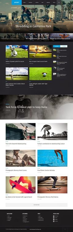 Jockey Sports Magazine and News WP Theme 2015 #WordPress #Template