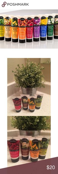 Bundle of 4 Shikai Hand Lotions Got these in a giveaway, super new and never used or even opened. I just have too much lotion. Super easy to ship since they were never opened. Check out my page for more cute stuff! I mostly sell clothing/accessories/jewelry/makeup!  Shikai Other