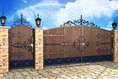 Ворота и калитки кованые различные