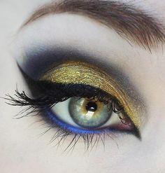 Dourado & Azul. Lindo!