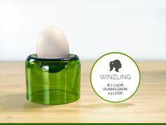 WINZLING / Ø 7-7,5CM / DUNKELGRÜN(Glas/Eierbecher) von Gläserne Transparenz auf DaWanda.com