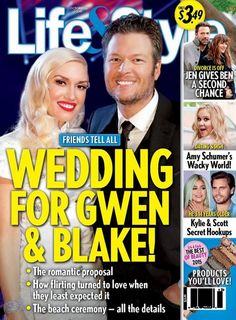 The Voice coaches Gwen Stefani and Blake Shelton are NOT getting married, and this week's funniest cover goes to Life & Style Magazine