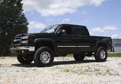"Chevy Silverado Lifted | 99-06 Chevy/GMC Silverado/Sierra 1500 4WD 6"" Lift Kit w/Nitro Shocks"