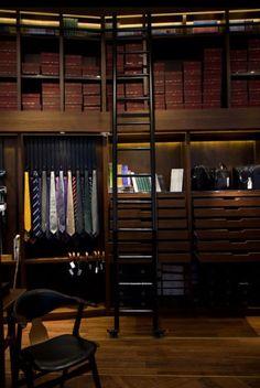 Boa ideia para closet masculino.