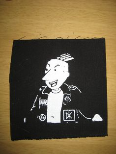Roger Klotz punk patch on Etsy, Sold