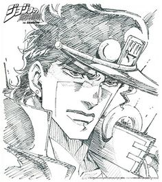 Jojo's Bizarre Adventure, Jojo Stardust Crusaders, Manga Anime, Anime Art, Joseph Joestar, Jotaro Kujo, Another Anime, Drawing Sketches, Drawings