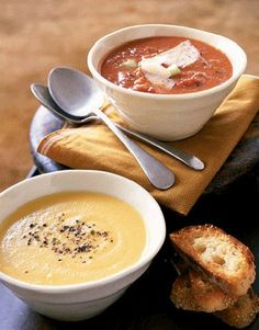 Serve hot, crusty rolls with this Fire Roasted Tomato Soup for a tasty lunch. #recipes #food