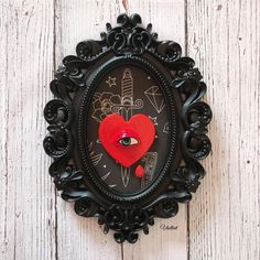 𝖁𝖍𝖊𝖑𝖑𝖛𝖊𝖙 ☜♥☞ on Instagram #tattoostyle #roomdecor #apartmentdecor #gothichome Frame Wall Decor, Framed Wall, Frames On Wall, Gothic House, Clock, Room Decor, Instagram, Watch, Goth Home